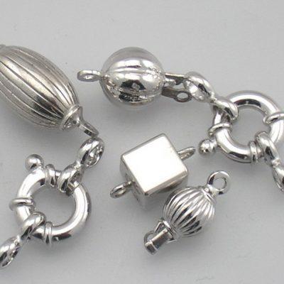 Chiusure in argento rodiato 925